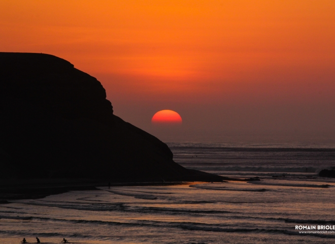 Chicama's sunset