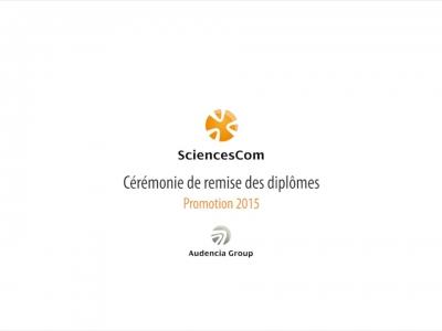 Sciencescom – Cérémonie de remise des diplômes promotion 2015