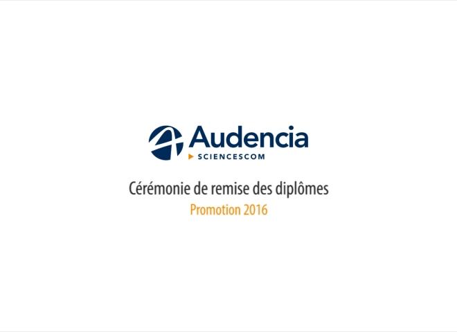 Audencia SciencesCom – Cérémonie de remise des diplômes promotion 2016