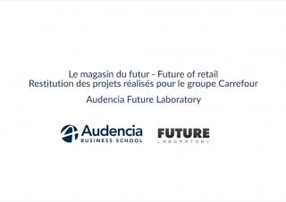 Audencia – Restitution Carrefour Futur Laboratory 2017