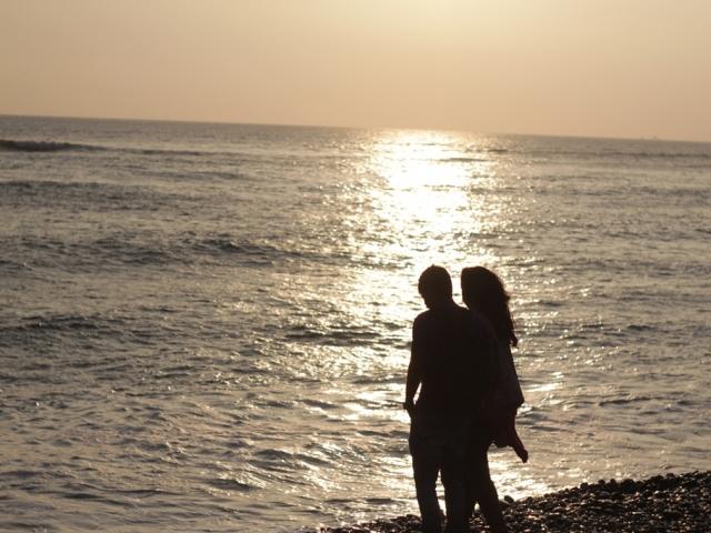 Makaha beach sunset